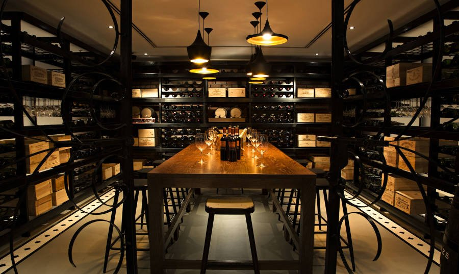 Get together for a private dinner in BOCA's wine cellar