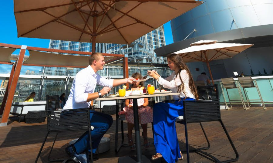 Brunch with Pool Access at Rooftop, The Burj Club