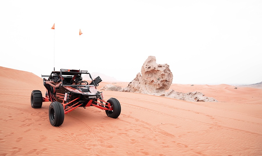Take off on a private dune buggy adventure through the desert