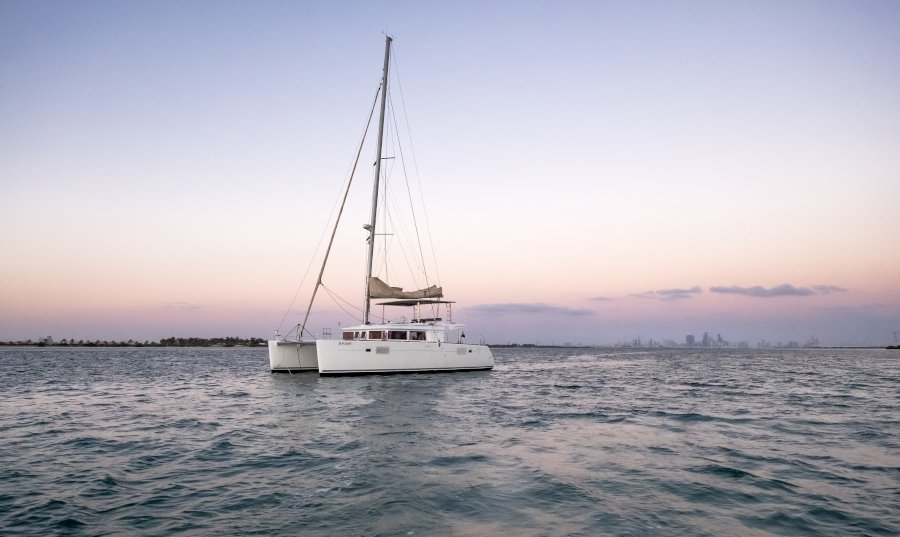 Discover Yas Island with a private catamaran charter